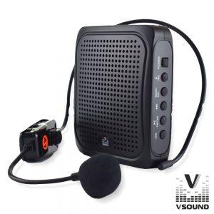 """Coluna Amplificada 3"""" USB/BT/FM/SD/Bat UHF Preto VSOUND - (VSPAPORT02)"""