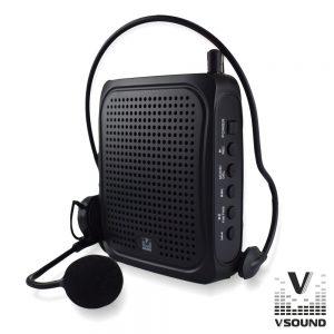 """Coluna Amplificada 3"""" USB/BT/FM/SD/Bat Preto VSOUND - (VSPAPORT01)"""