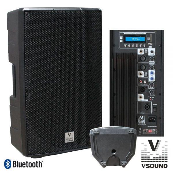 "Coluna Bi-Amplificada PRO 15"" USB/SD/FM/BT 700W VSOUND - (VSSPRO15APUSB)"