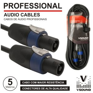 Cabo Pro Speakon Macho / Macho 5m VSOUND - (CPSN294-5)