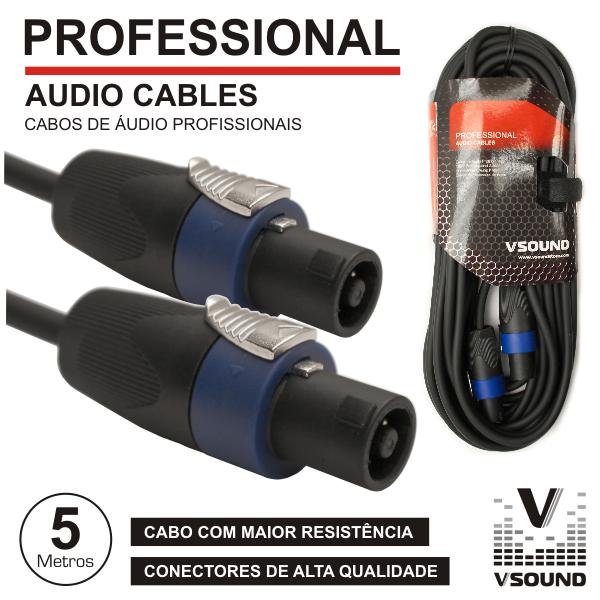 Cabo Pro Speakon Macho / Macho 5m VSOUND - (CPSN294-5)