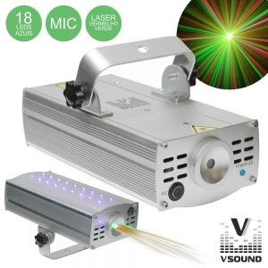 Laser 150mW Vermelho/Verde Star VSOUND - (LASERSTAR150)
