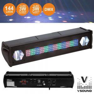 Barra De LEDS C/ 2 Strobe RGB VSOUND - (LEDFXBAR2)