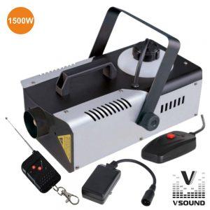 Máquina De Fumos 1500W Comando C/ E Sem Fios VSOUND - (VSFUMOS1500C)