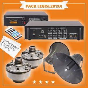 Pack Legilativas C/ Amplificador + 2 Cornetas + 2 Pinhas - (PACK LEGISL2019A)