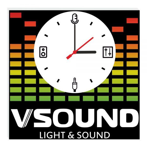 Relógio De Parede Redondo Design VSOUND - (RELOGIO-VSOUND)
