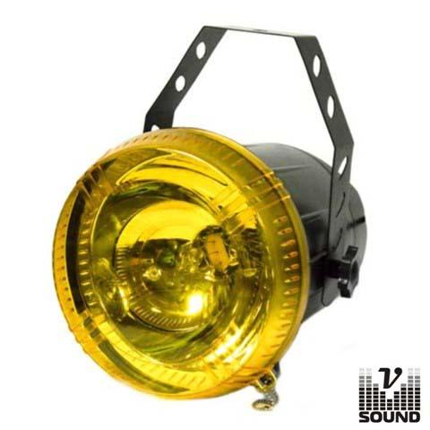 Estroboscópio Profissional 75W Amarelo VSOUND - (VSTROBE75YELLOW)
