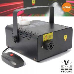 Máquina De Fumos 400W C/Laser 150mW R/G VSOUND - (VSFUMOS400LA)