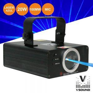 Laser 100mW Azul Com DMX E Regulação VSOUND - (VSLASER100B)