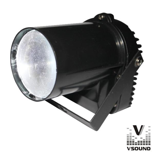 Projetor Luz C/ 1 LED CREE 3W Branco Spot VSOUND - (VSLED3W)