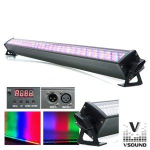 Barra De LEDS C/ Strobe 240 LEDS 10mm RGB DMX VSOUND - (VSLEDB240RGB)
