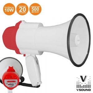 Megafone 10W C/Gravação Voz VSOUND - (VSME10R)