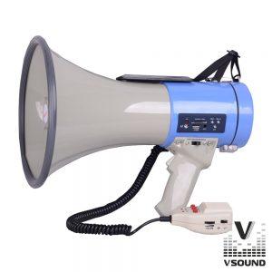 Megafone 25W C/ USB Mp3 Gravação Voz E Sirene VSOUND - (VSME25B-1)