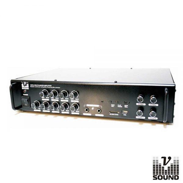 Amplificador Pa 24/220v 4 Zonas 240W Mp3/USB/SD/FM VSOUND - (VSPA120U)