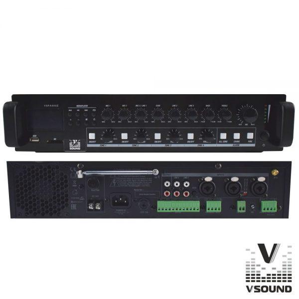 Amplificador PA 12/230V 3 Entradas 120W Mp3/USB/SD/BT - (VSPA60UZ)