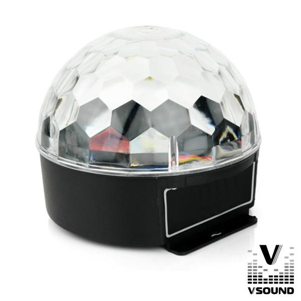 Projetor Luz C/ 3 LEDS 3W RGB VSOUND - (VSPROJVS26B)