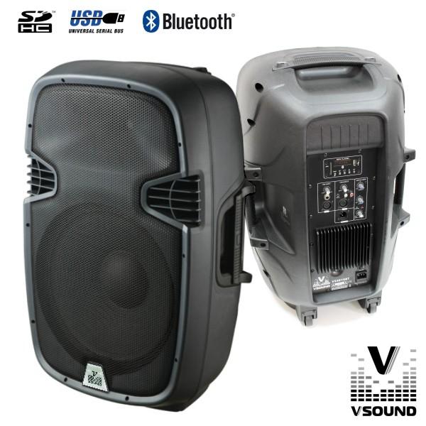 "Coluna Amplificada 15"" 600W USB/SD/Bluetooth VSOUND - (VSSE15BT)"